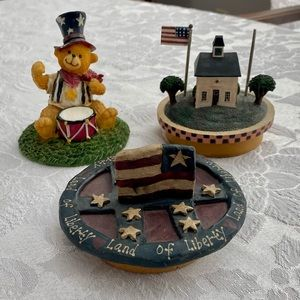 USA jar candle toppers